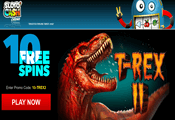 10 exclusive free spins at Sloto'Cash Casino